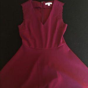 Francesca's burgundy skater dress!